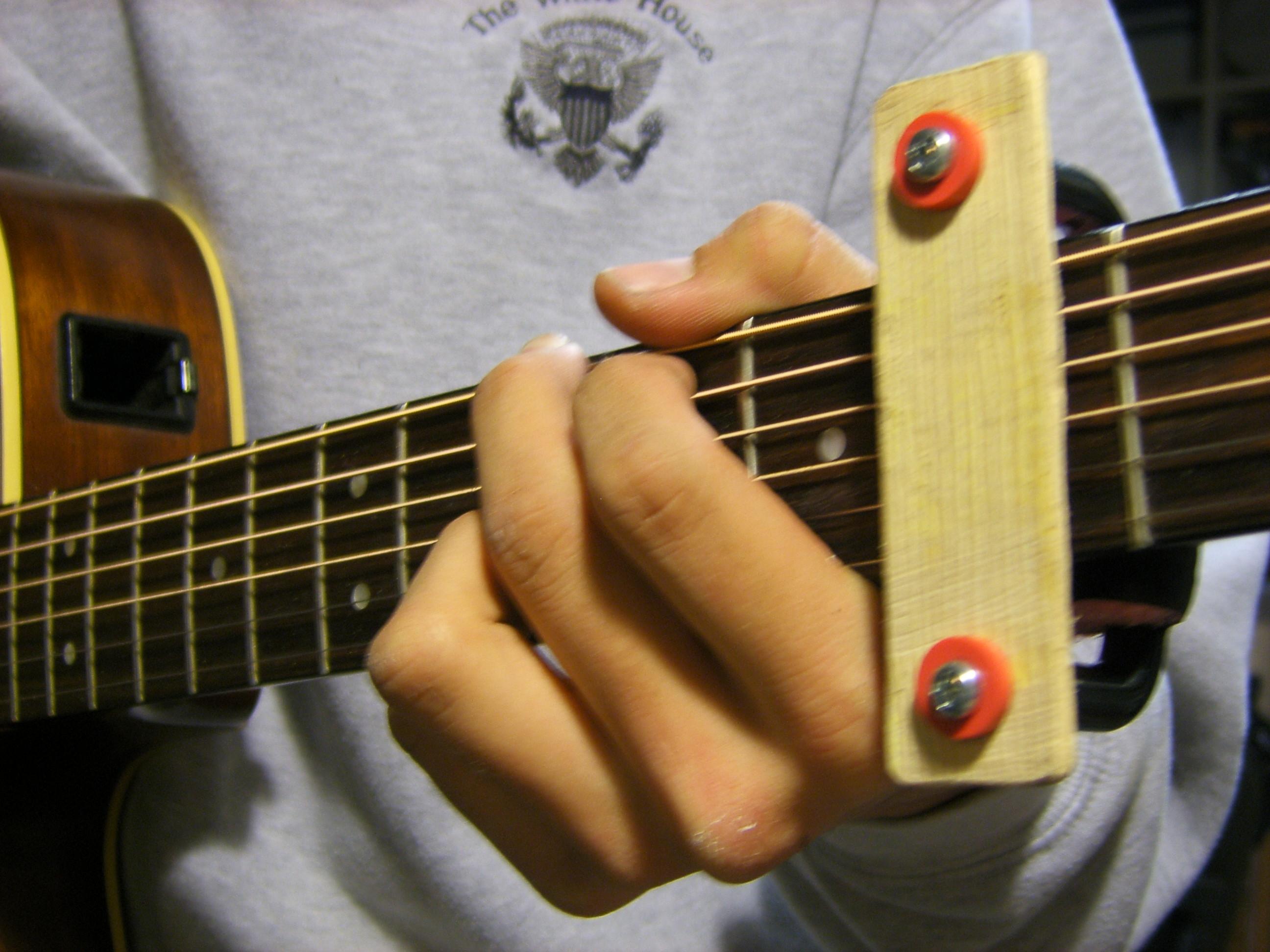 How to make a dirt simple Guitar Capo!