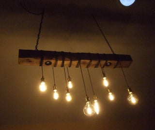Upcycled Beam Chandelier