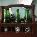 Wooden Beer Bottle Holder