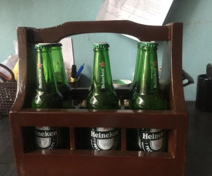 Wooden Beer Bottle Holder
