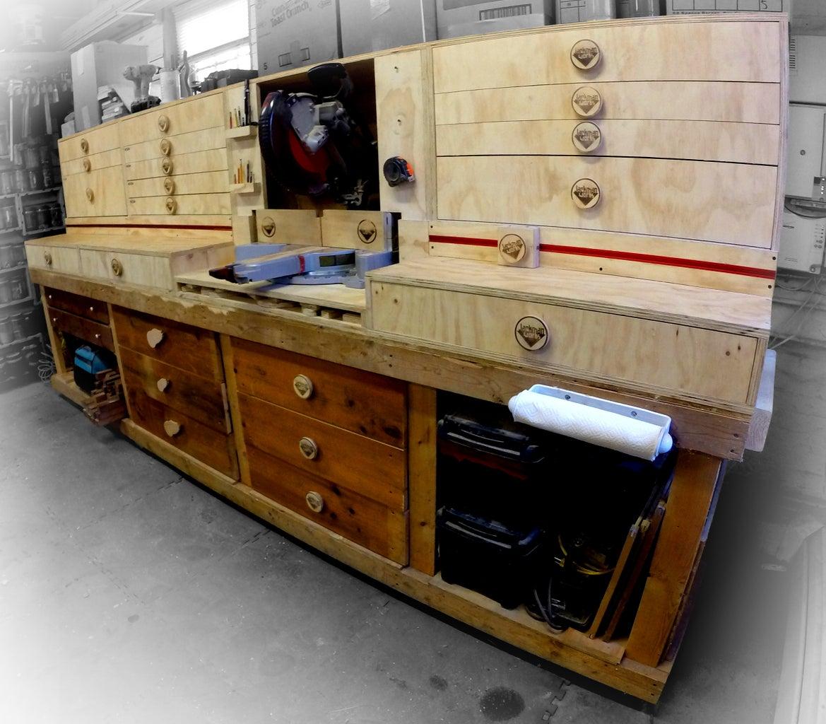 Modular Miter Saw Station - Ultimate Shop Storage