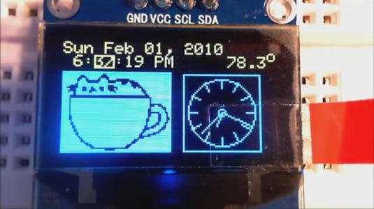 DS3231 OLED Alarm Clock With 2-button Menu Setting and Temperature Display