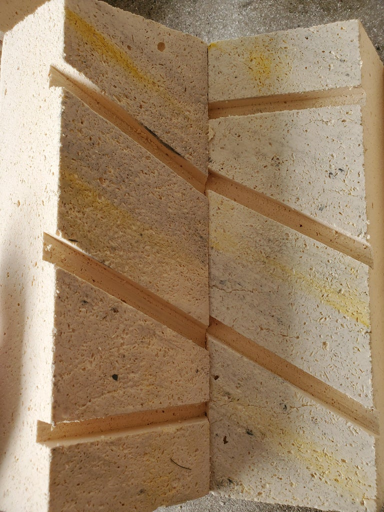 Cutting the Grooves for the Soft Brick
