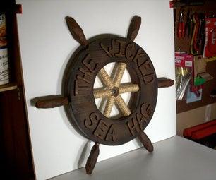My Pirate Costume Ship's Wheel!!