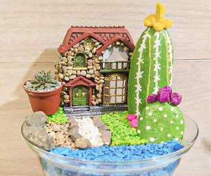 Colorful Garden With Rocks
