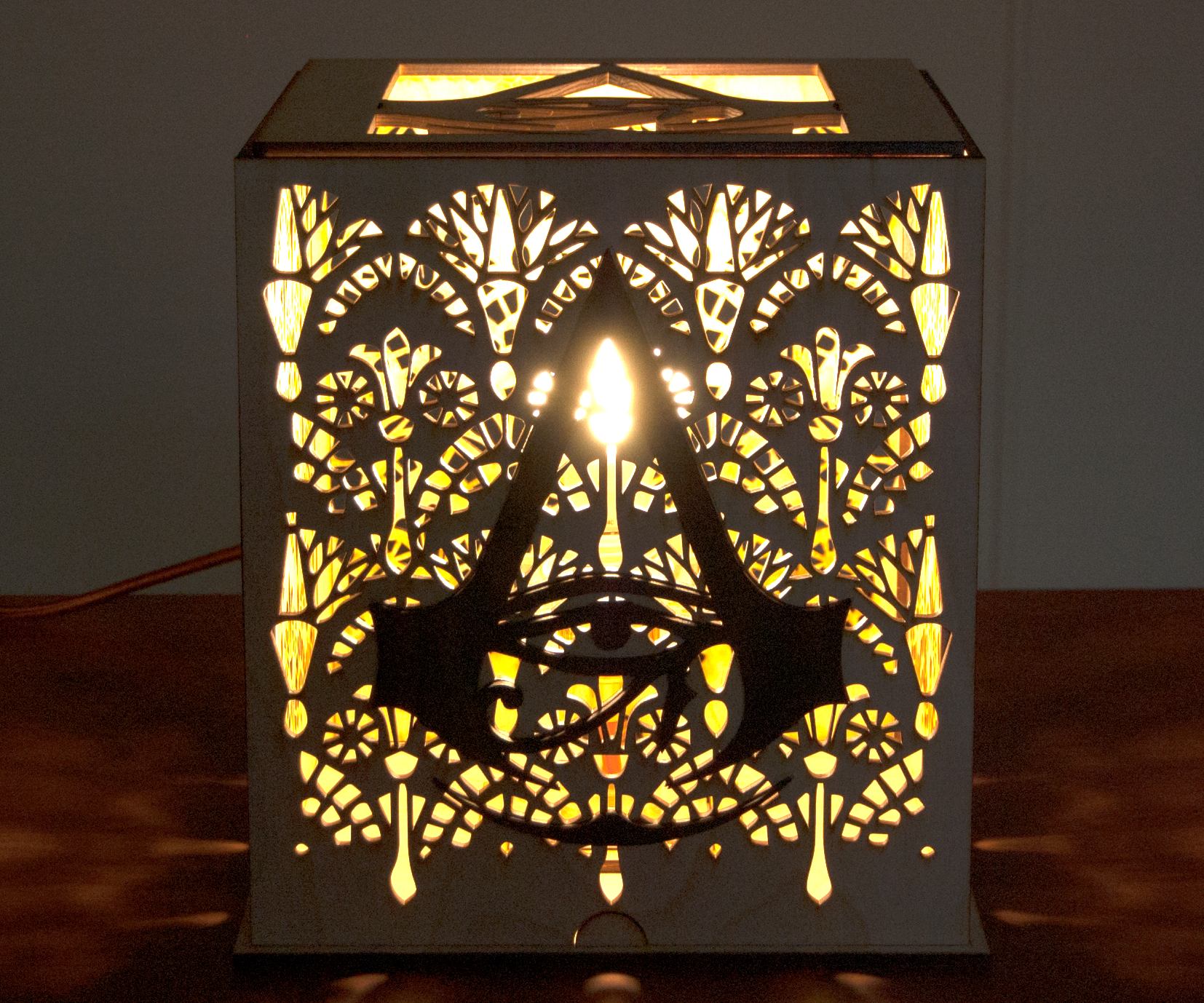 How to Laser Cut an Alexa-Enabled Lamp for a Gameroom