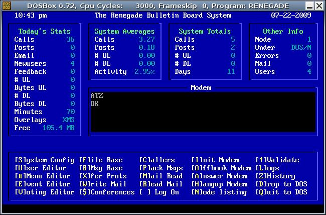 Renegade BBS in Ubuntu Linux - Telnet Multi-Node