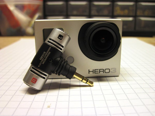 Make an External Microphone Mount for GoPro HERO3.