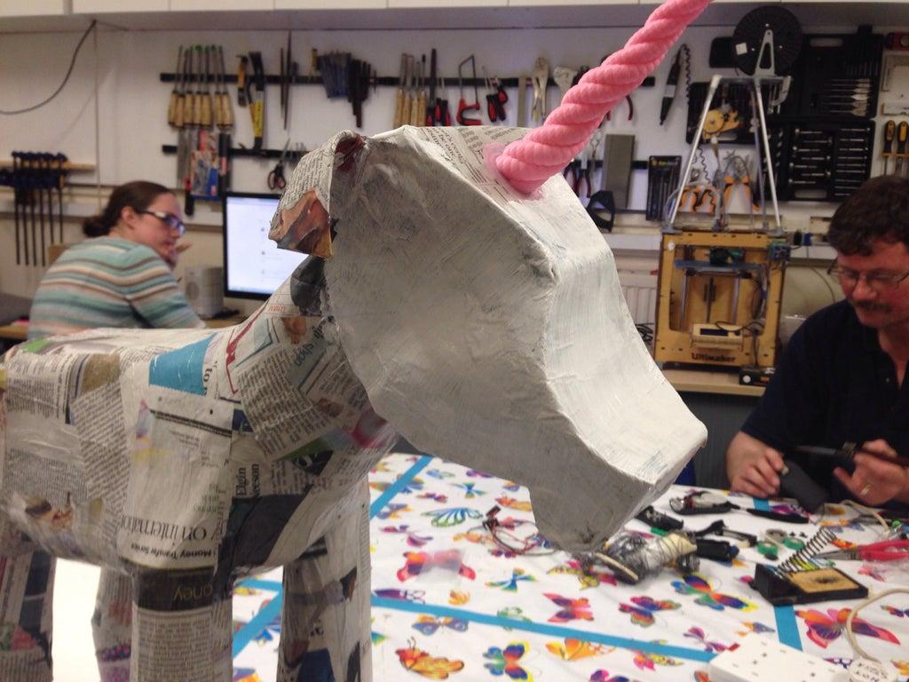 Kids Build Super Rainbowtastic Paper Mache Unicorn 7 Steps With Pictures Instructables