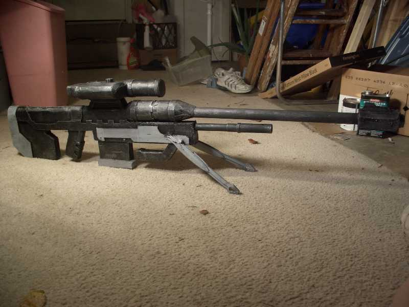 Halo Sniper Rifle - cardboard and pvc