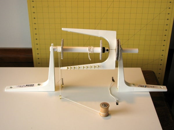 Spinning Attachment for a Treadle Sewing Cabinet