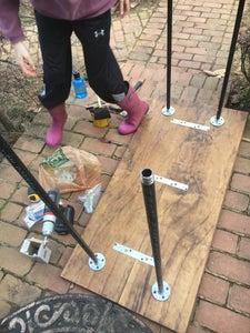 Screw in the Galvanized Steel Legs