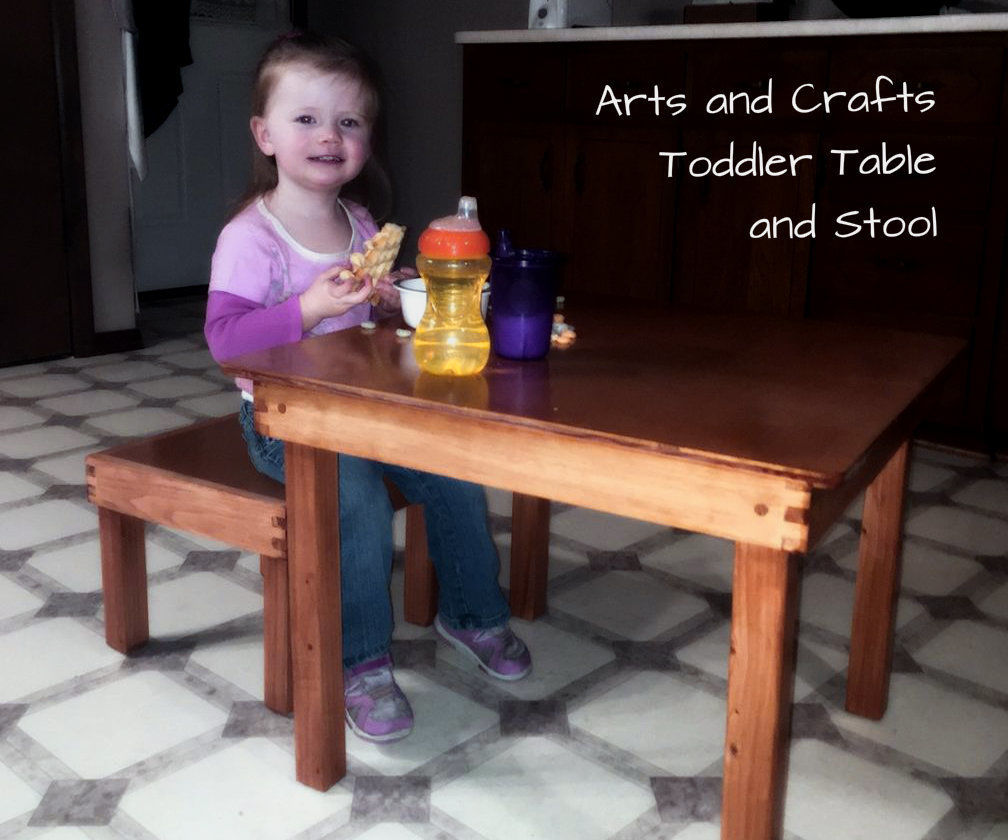 Toddler Table and Stool.