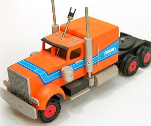 Peterbilt Toytruck With Mechanical Remote Control