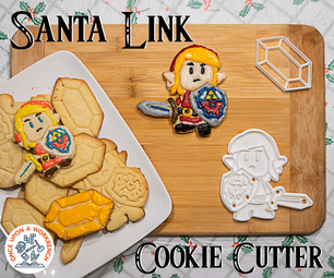Santa Link Cookie Cutter