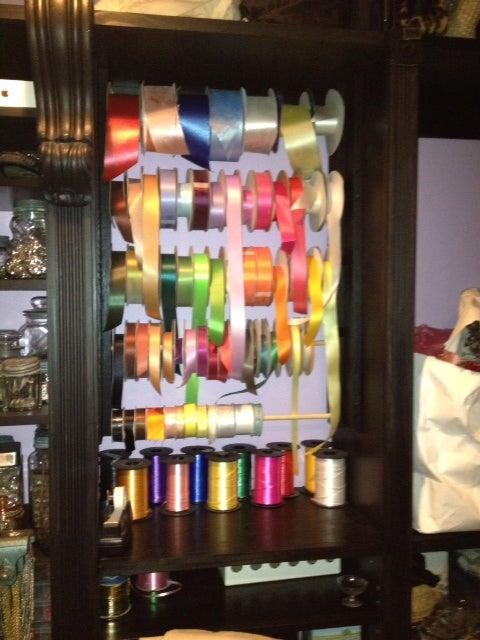 Custom Ribbon Organizer for Closet Craft Room