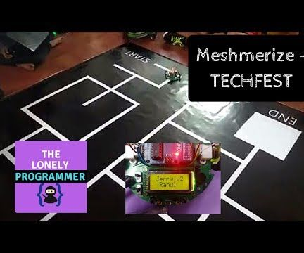 The White Line Follower ( Meshmerize )- TECHFEST 2017-18