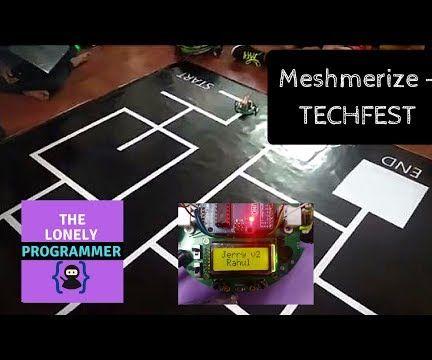 The White Line Follower ( Meshmerize )- TECHFEST 2017-18