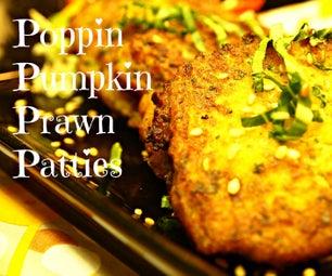 Poppin Pumpkin Prawn Patties