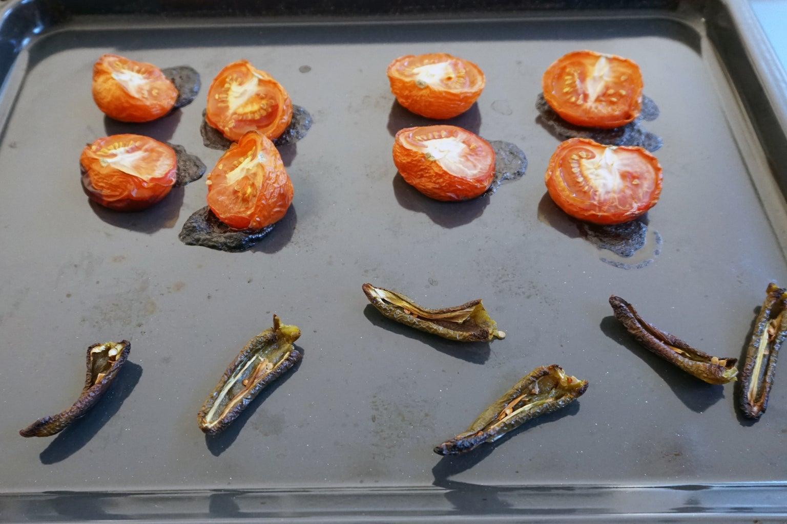 Slow-Roast Tomatoes, Jalapeño & Onion