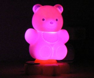 Teddy Nightlight Multicolor