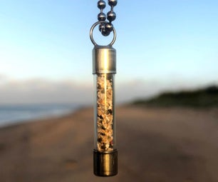 Sand in a Bottle - Fuse Pendant