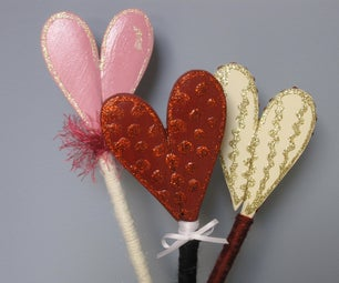 Make a Heart Shaped Wand From Wooden Spoons