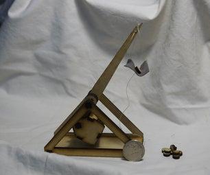Make a desktop trebuchet
