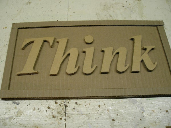 Make Signs Out of Cardboard!