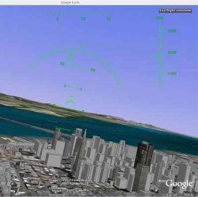 Google Earth Hidden Flight Simulator!