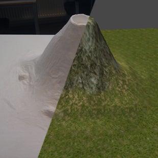 Mini Projection-Mapped Landscape