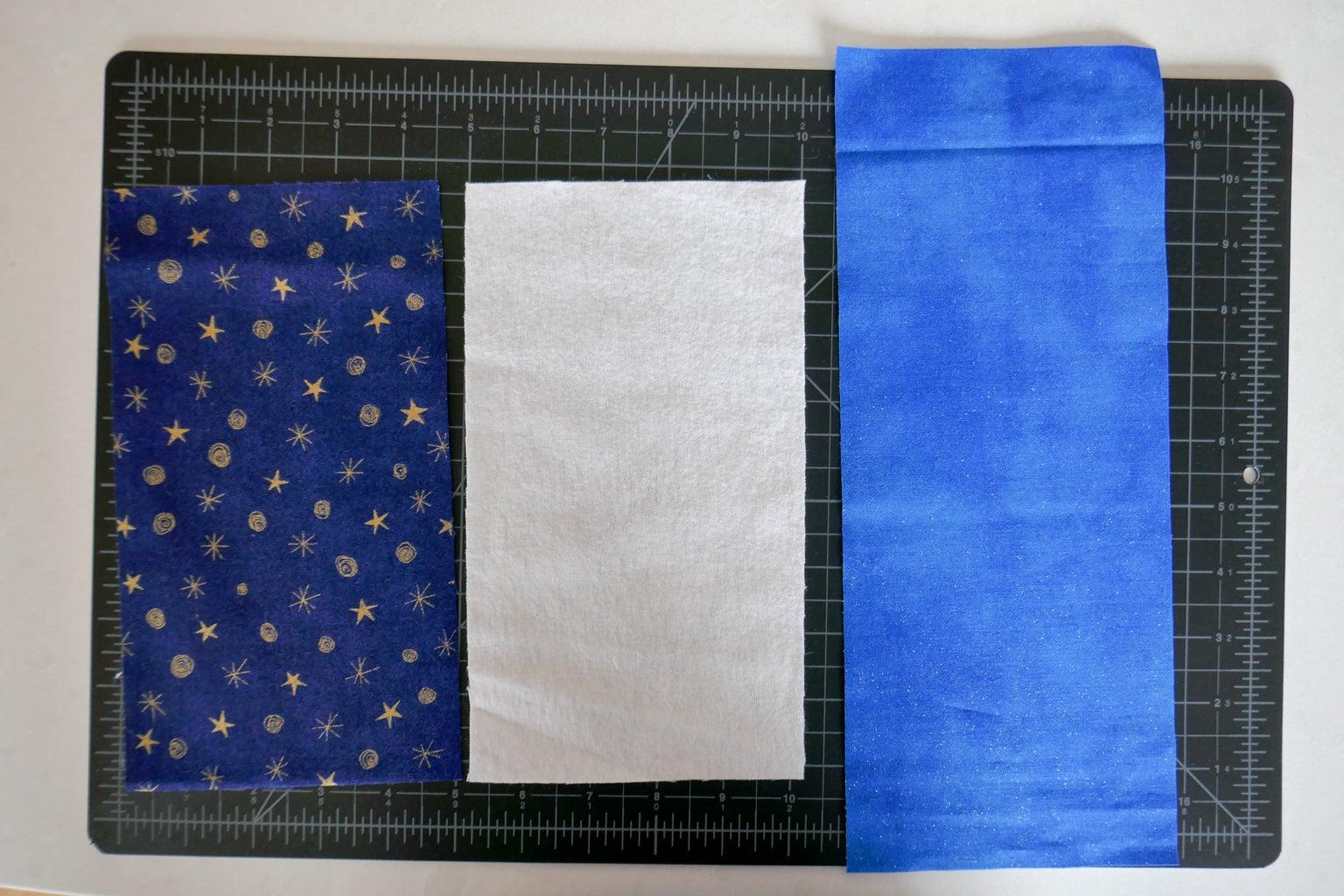 Cut Fabric, Lining and Interfacing