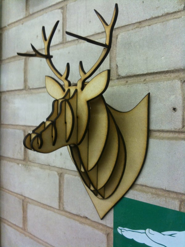 MDF/Acrylic/Cardboard Deer Head Taxidermy