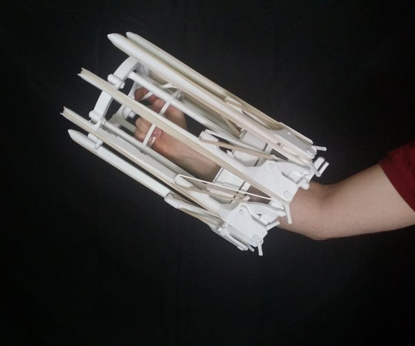 The Arcus - Fully 3D Printed Rubber Band Gatling Gun