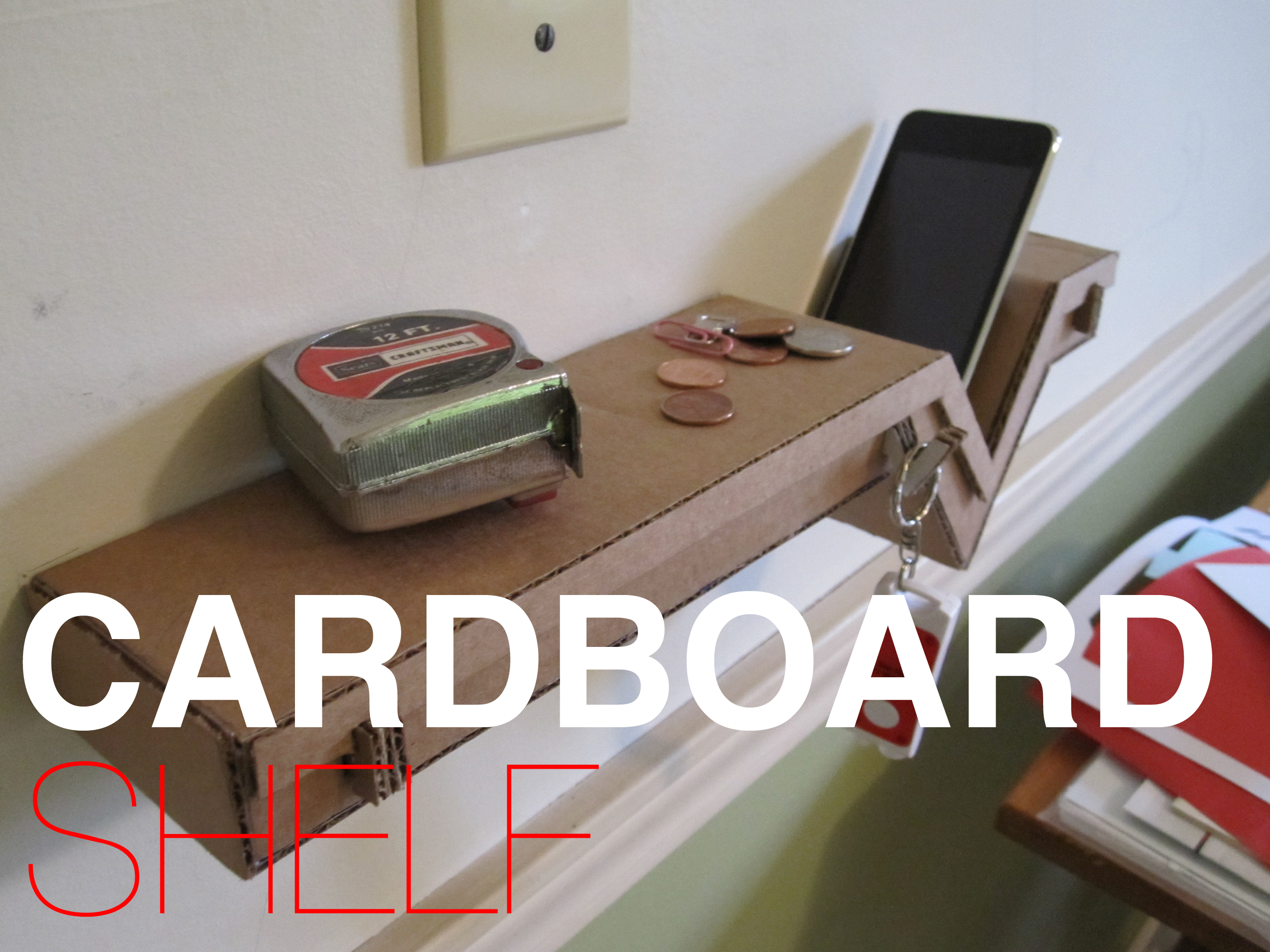 Amazing Cardboard Shelf!