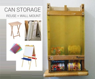 Wall Mount Can Storage