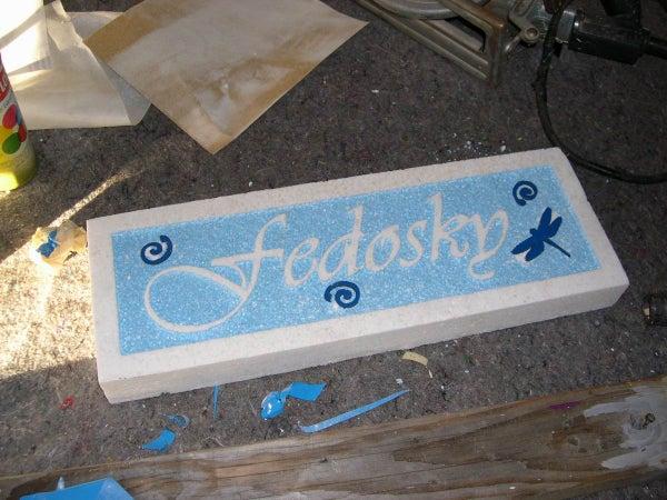 Foam Sandblasted Sign