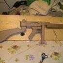 Cardboard M1 Thompson Machine Gun