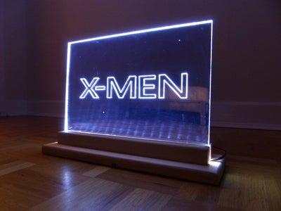 XMEN LED EDGE LIT MIRROR SIGN