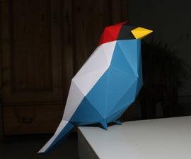 Papercraft低聚鸟