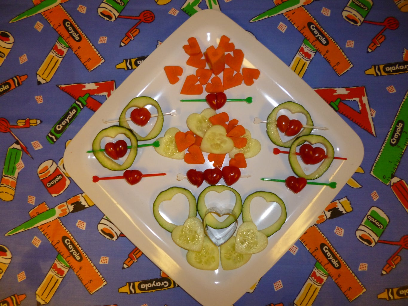 Vegetables - Assorted Heart Shaped Techniques