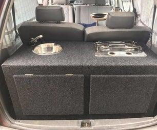 Campervan Sink and Gas Cooker Conversion for Toyota Tarago (Estima)