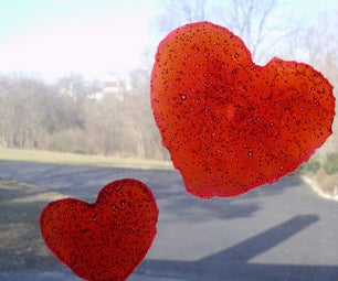 How to Make a Valentine Heart Window Cling Craft for Kids