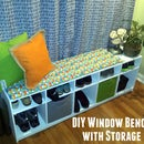 Plywood Window Seat with Cube Storage