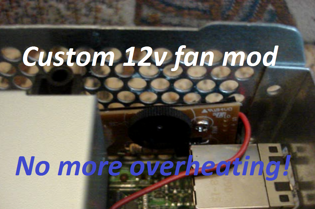 Custom 12v fan mod for Xbox 360