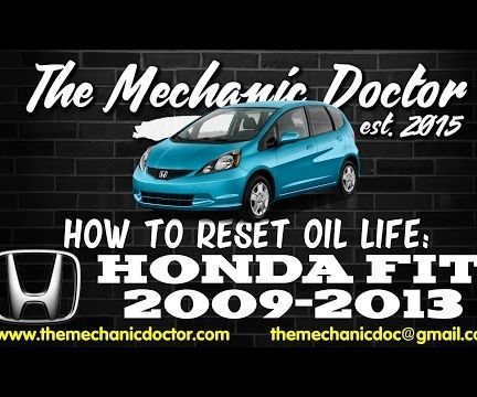 How to reset oil life: Honda Fit 2009 - 2013