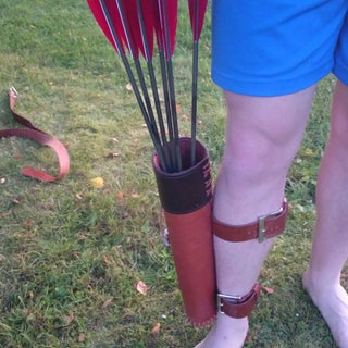 DIY Leather Back Quiver