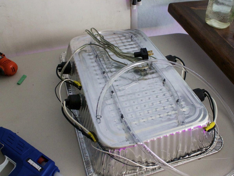 Grow Light and Irrigation Hood - 54W, 3300 Lumens, $18