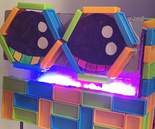 DIY机器人头由RGB LED灯制成