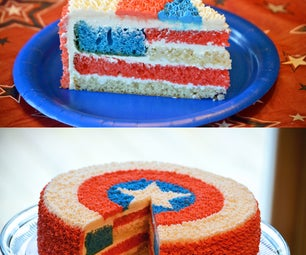 Independence Day Surprise Cake